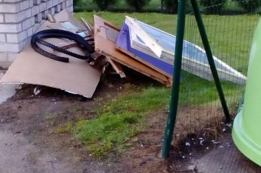 Atkritumu konteineru laukums – konteineru novietnei
